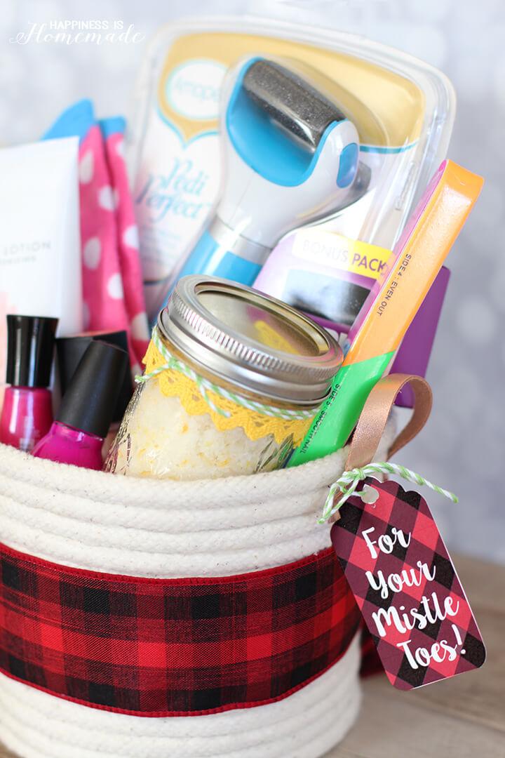 Spa Pedicure Gift Basket Ideas
