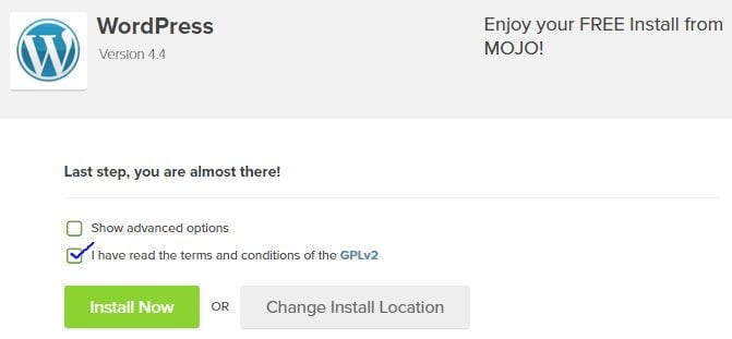 WordPress Installation 3