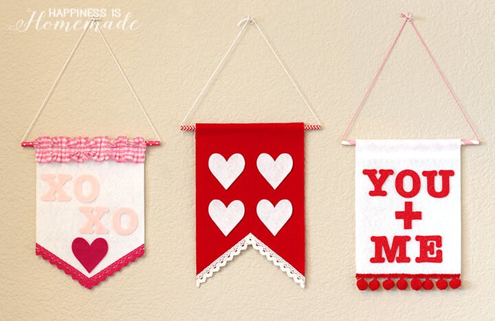Felt Wall Banners for Valentine's Day