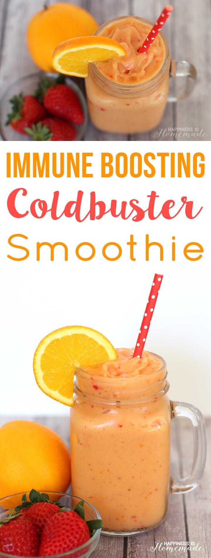 Immune Boosting Coldbuster Smoothie Recipe