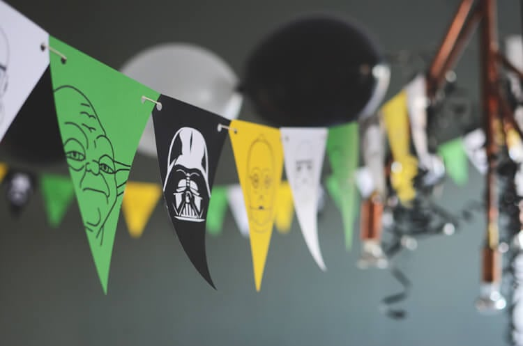 Star Wars Printable Banner Flags