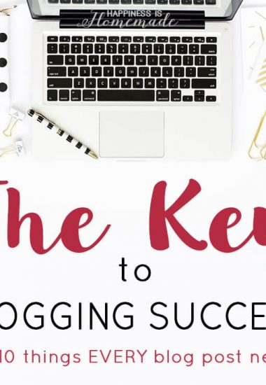 How to Start a Profitable Blog for Beginners – step-by-step directions to setting up, growing, and monetizing your blog. Part Three: The key secrets to blogging success + 10 things every blog post needs to get more pageviews!
