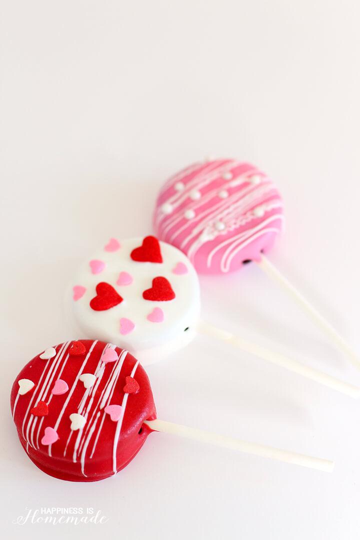Valentine's Day Treats - Oreo Pops Valentines