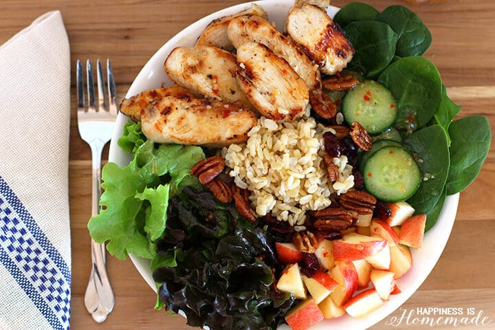 Chicken Brown Rice and Apple Salad
