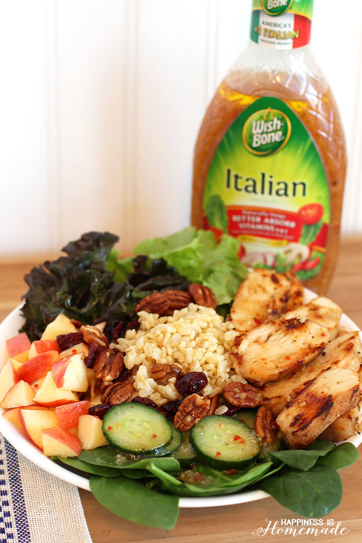 Chicken and Brown Rice Apple Salad