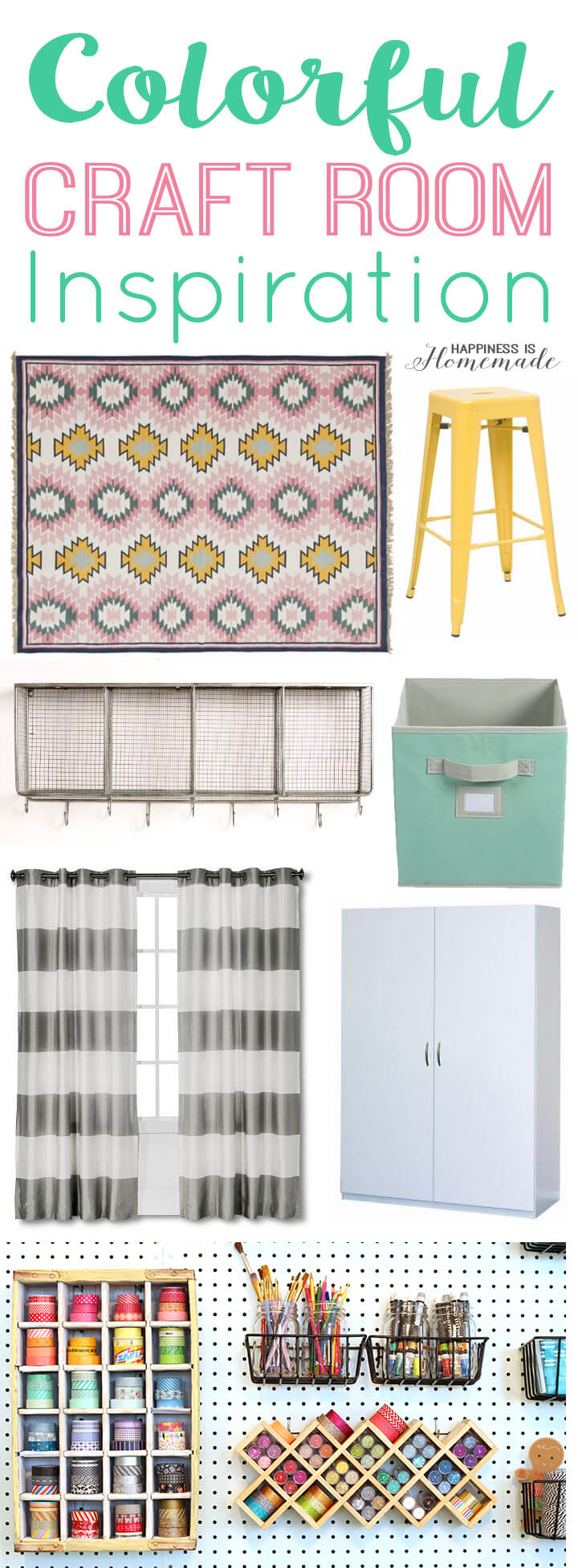 Colorful Craft Room Inspiration