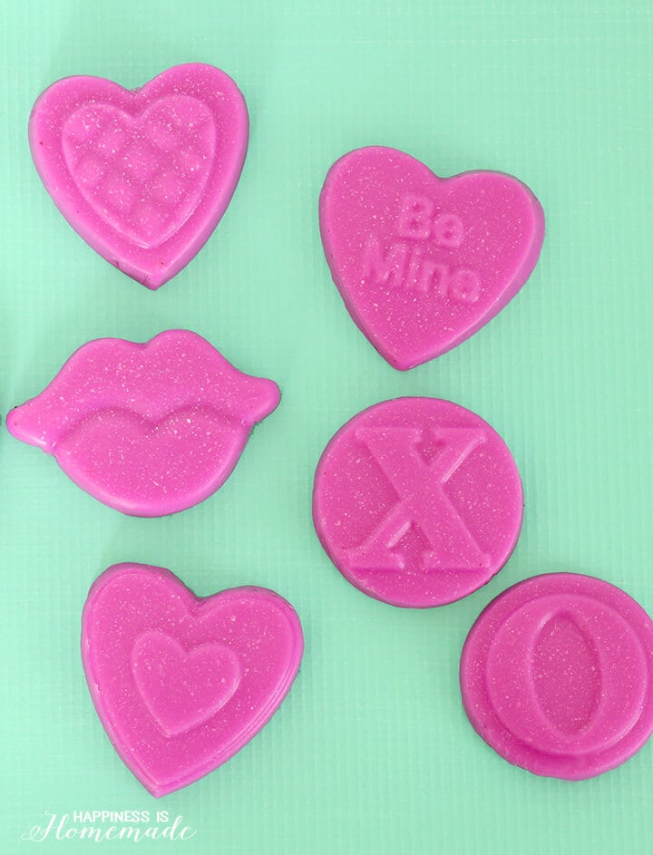 Cranberry Pomegranate Heart Soaps for Valentine's Day