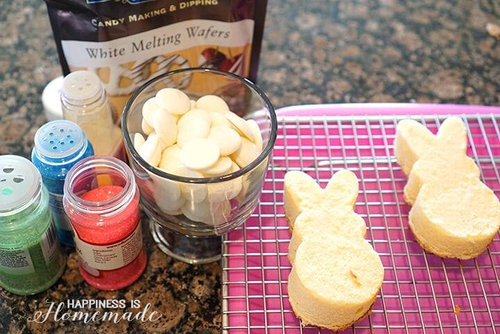 How to Make Peeps Bunny Shaped Cakes