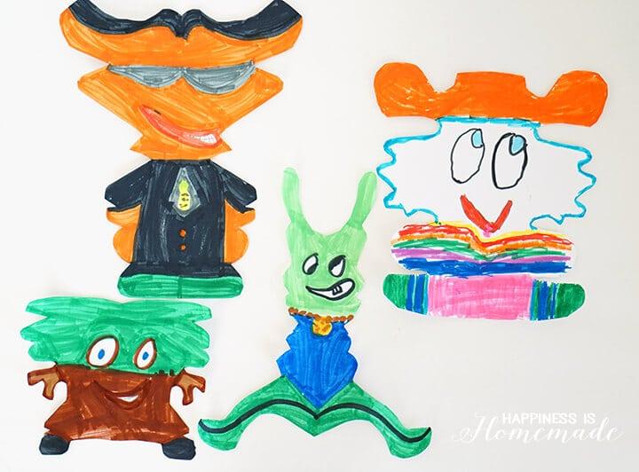 Kids Art - Symmetric Name Creatures