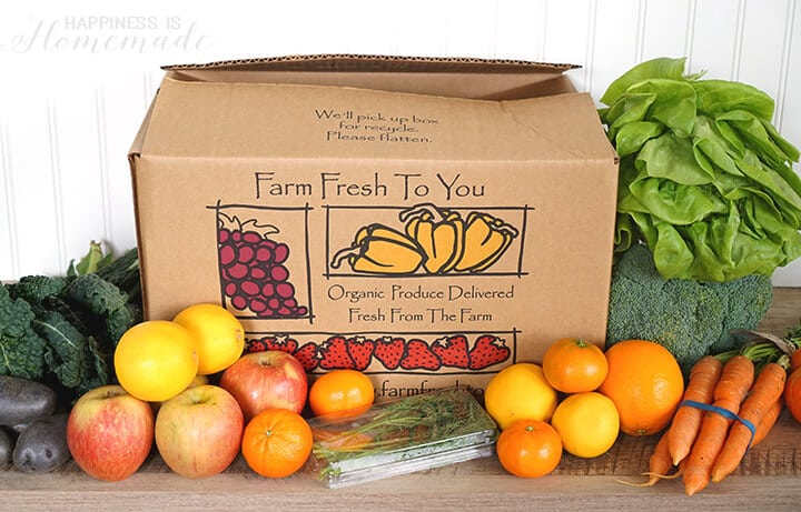 Farm Fresh to You Organic Produce CSA Box