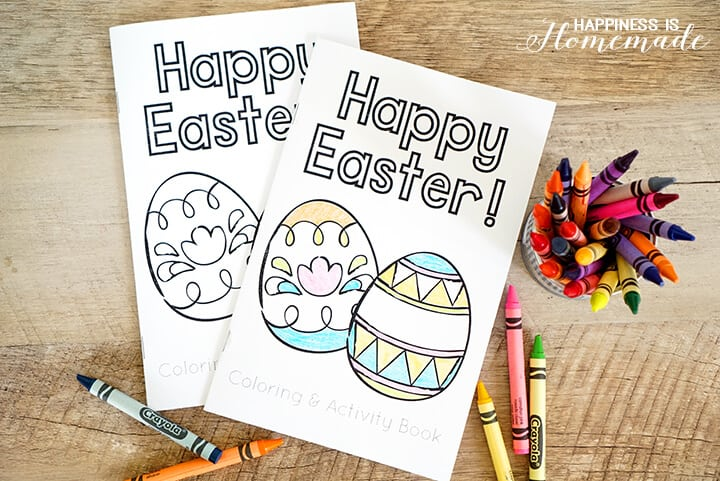 Printable Easter Coloring Book - Happiness Is Homemade