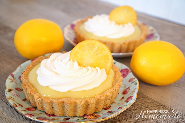 Meyer Lemon Tart with Whipped Cream and Candied Lemon Slices