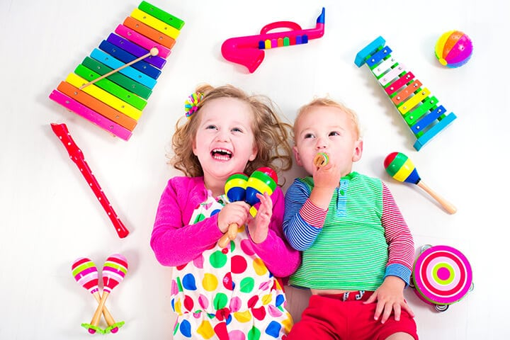 Kids Playdate with Musical Instruments