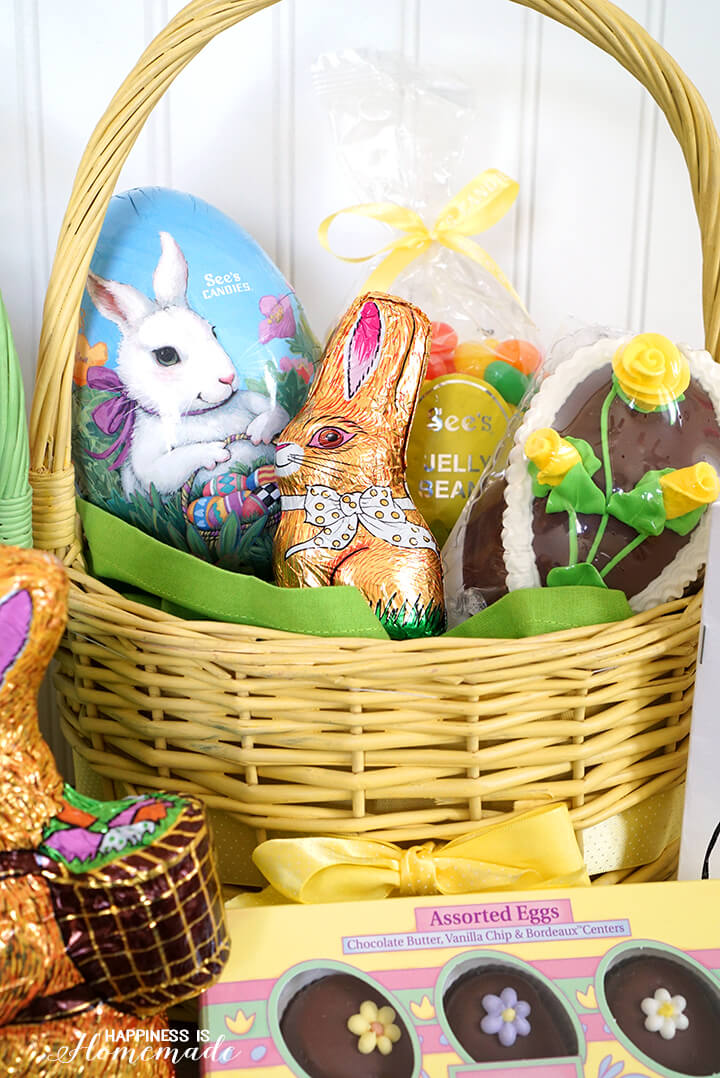 Yummy See's Candy Easter Basket Goodies
