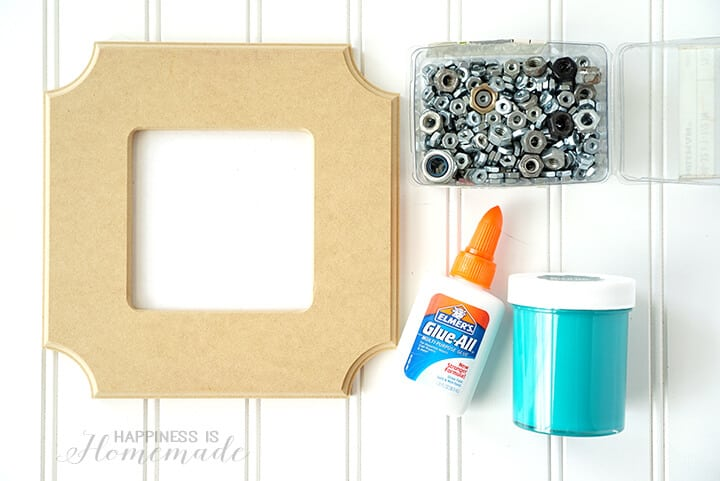 Supplies to Make a Nuts About You Photo Frame Gift