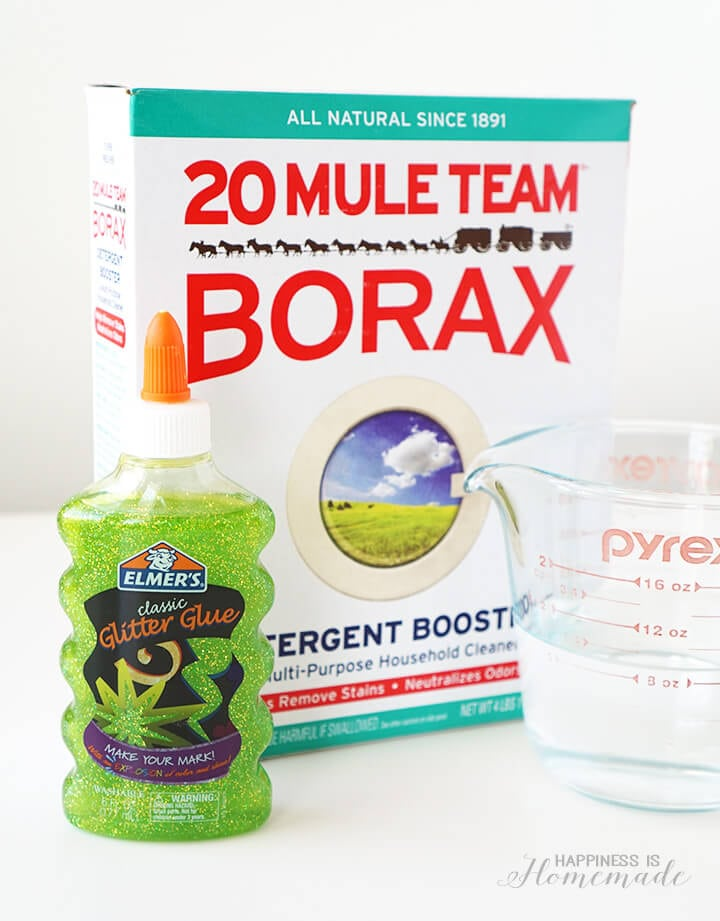 Supplies for Making Teenage Mutant Ninja Turtle TMNT Sewer Slime
