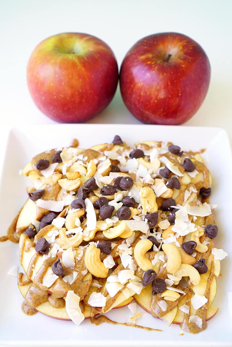 Apple Nachos After School Snack