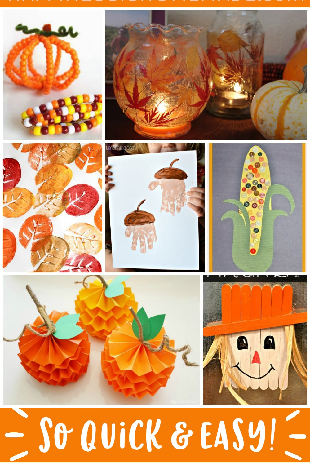 Easy Fall Kids Crafts That Anyone Can Make Happiness Is Homemade