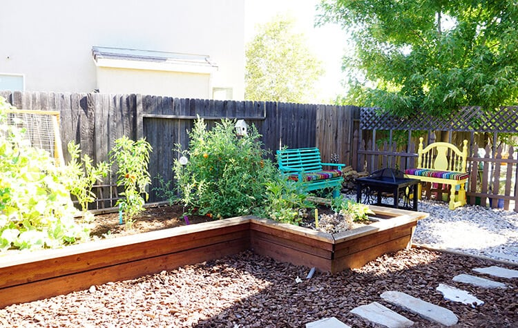 Side Yard Garden and Fire Pit