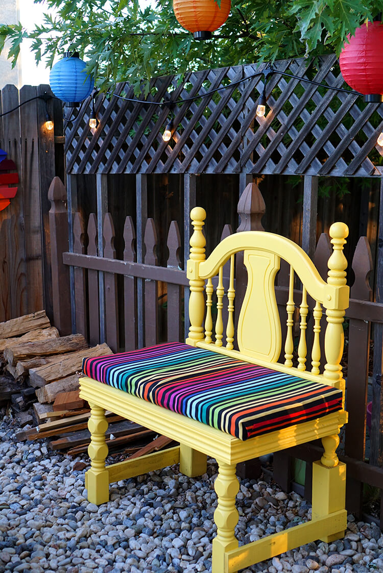 Colorful Backyard Entertaining Area