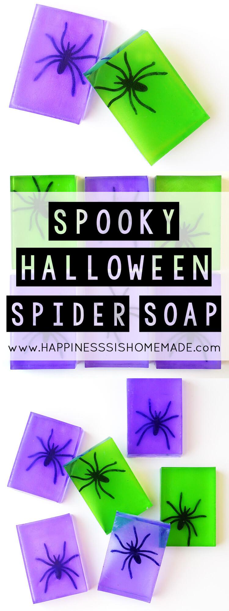 Spooky Spider Soap Hallowen Craft