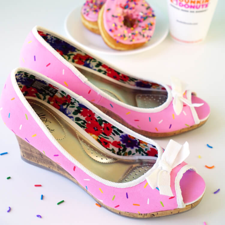 Pink Sprinkled Donut Shoes Happiness Is Homemade