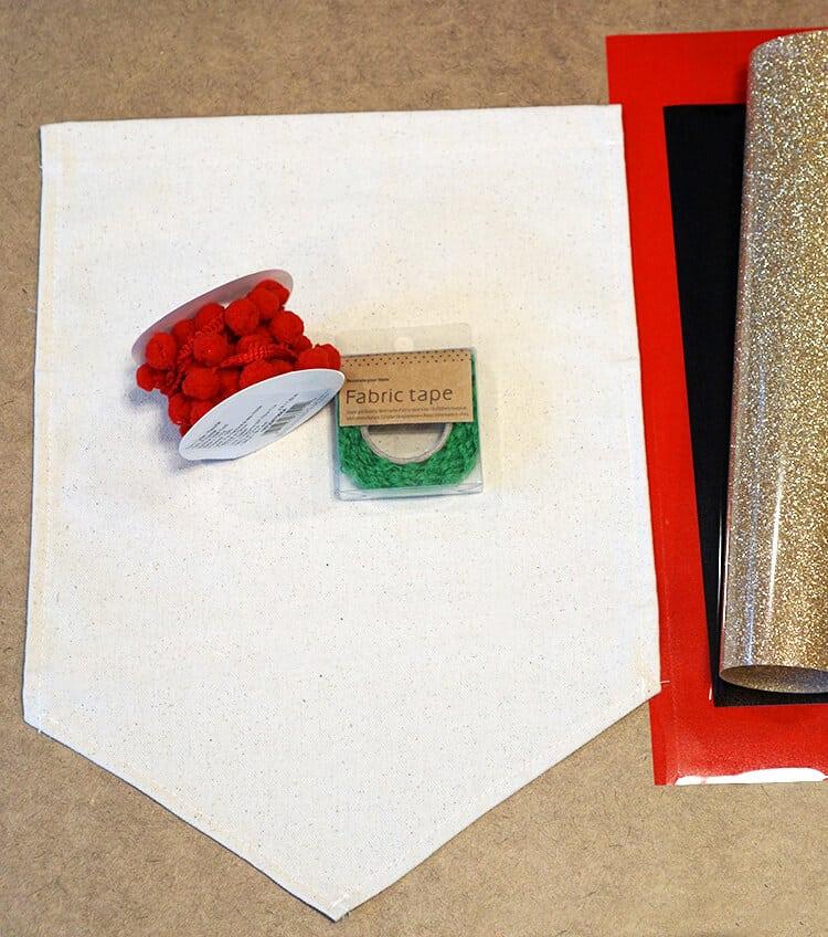 supplies-to-make-a-christmas-banner-flag
