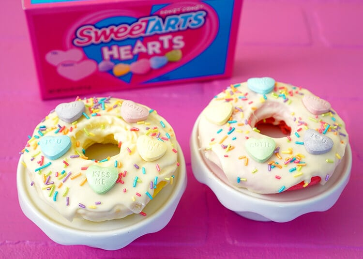 SweeTART Hearts Donuts for Valentine's Day