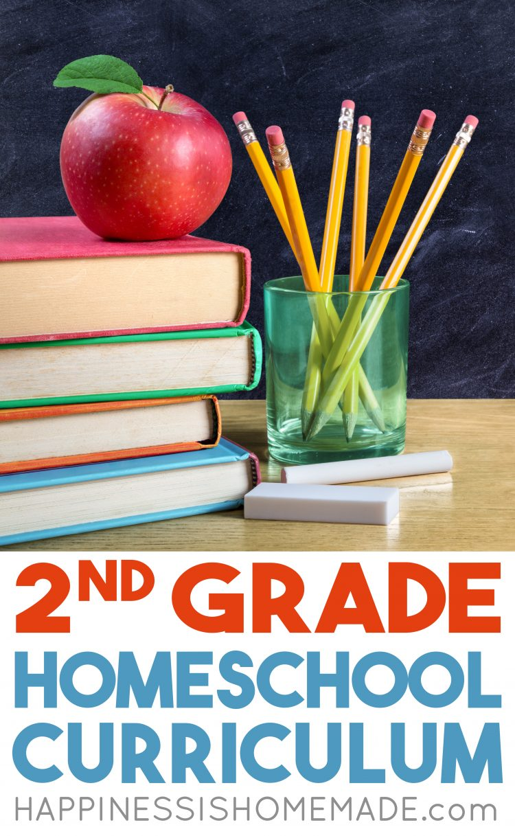 Looking for second-grade homeschool curriculum? Take a peek at the homeschool curriculum we'll be using this year in our 2nd-grade homeschool classroom!