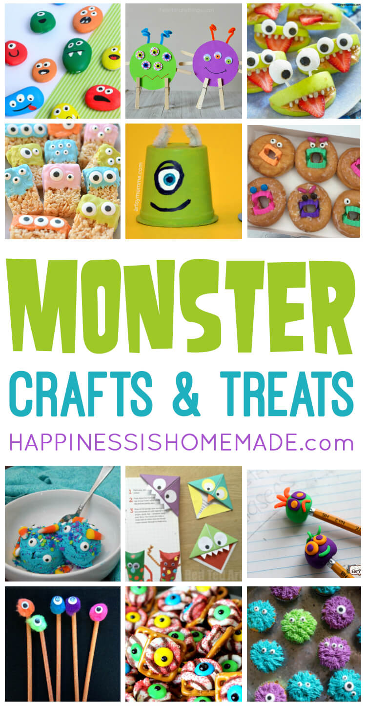 Halloween Crafts And Treats.20 Easy Monster Treats And Crafts For Kids Happiness Is Homemade