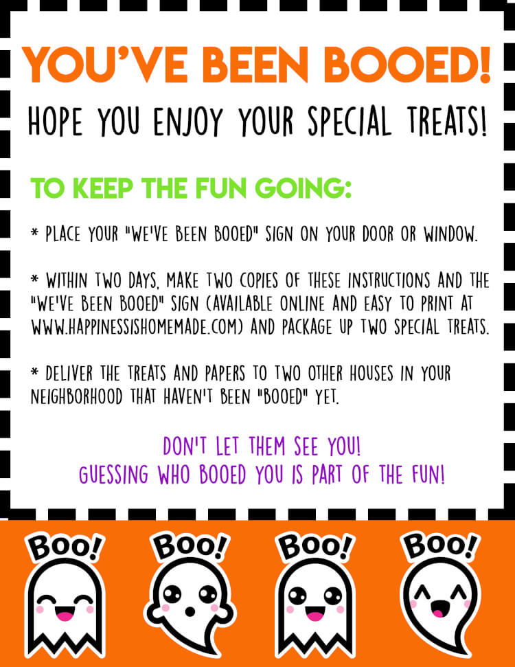 photograph relating to You've Been Booed Free Printable referred to as Yourself Ve Been Booed Halloween Activity