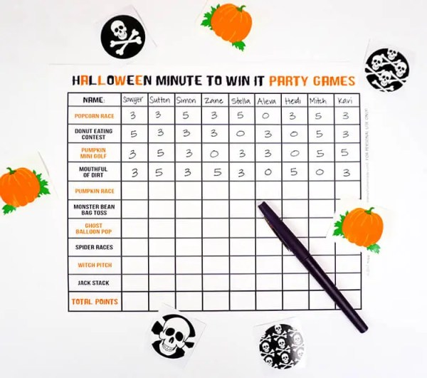 free halloween party games printables # 39