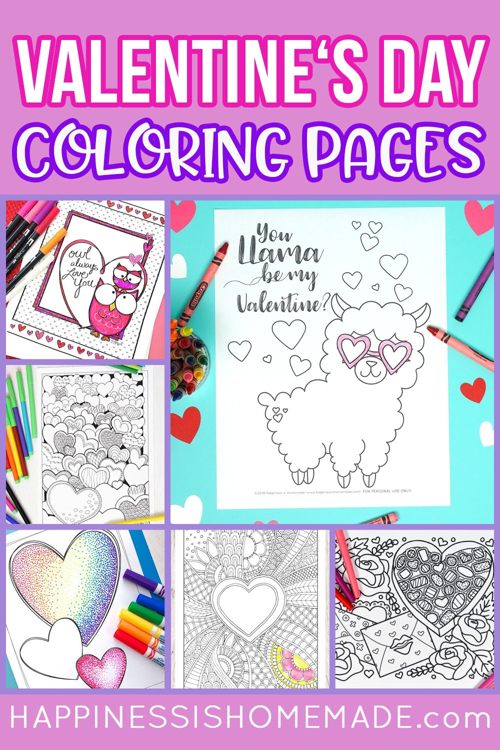 18+ Valentines Coloring Pages   Happiness is Homemade