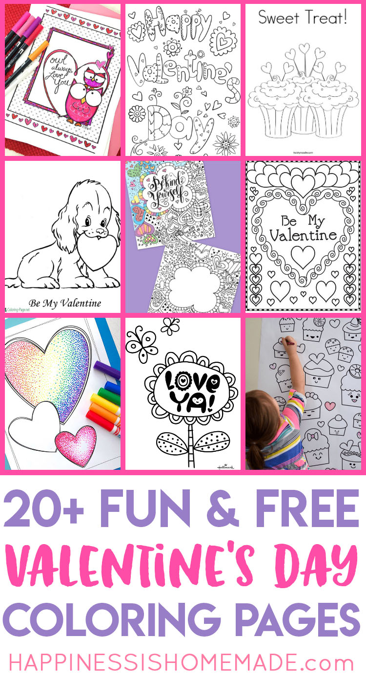 Printable Valentine Coloring Pages Happiness Is Homemade