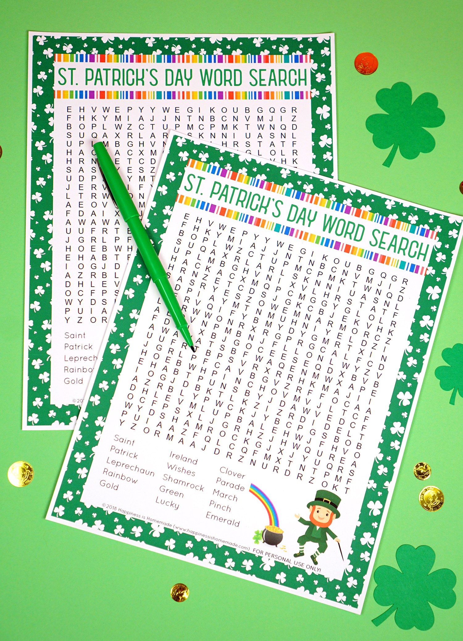 St Patrick S Day Word Search Printable