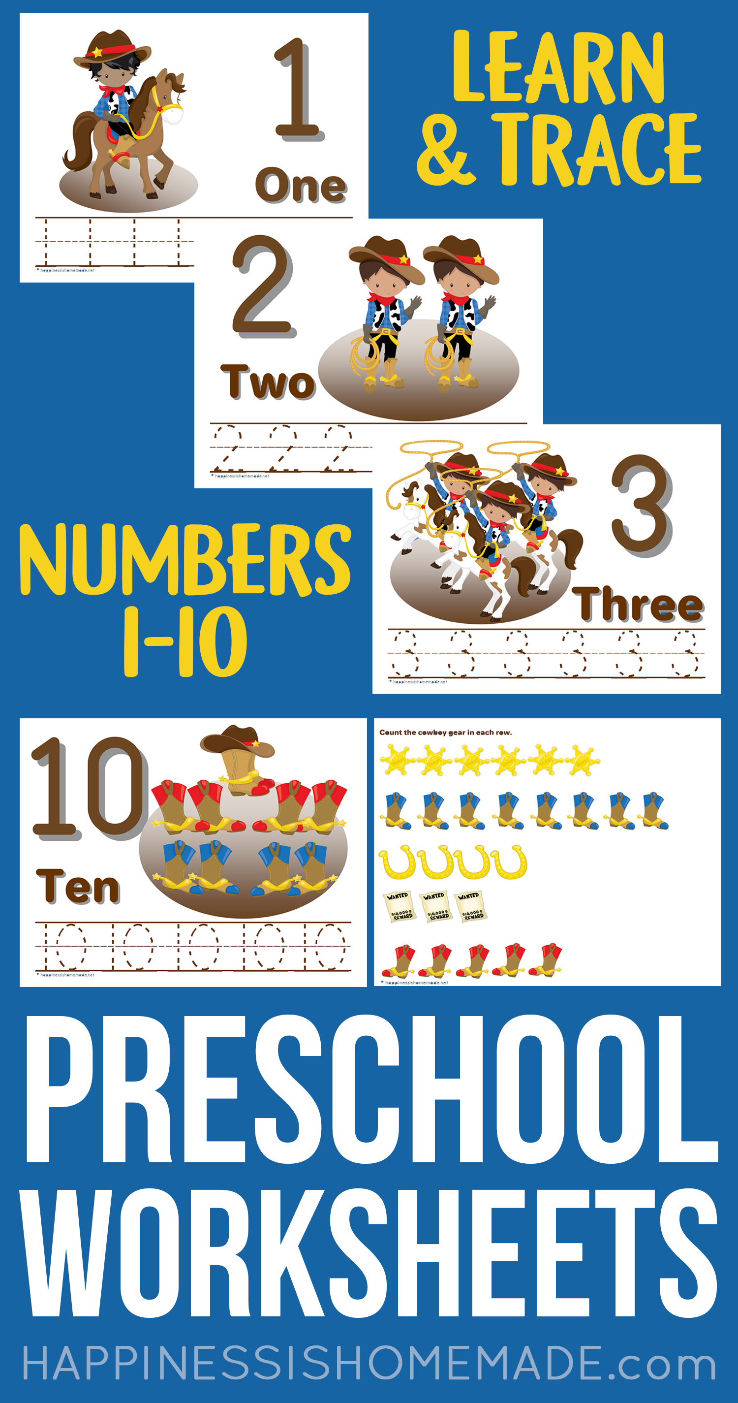 Numbers Worksheets For Preschoolers
