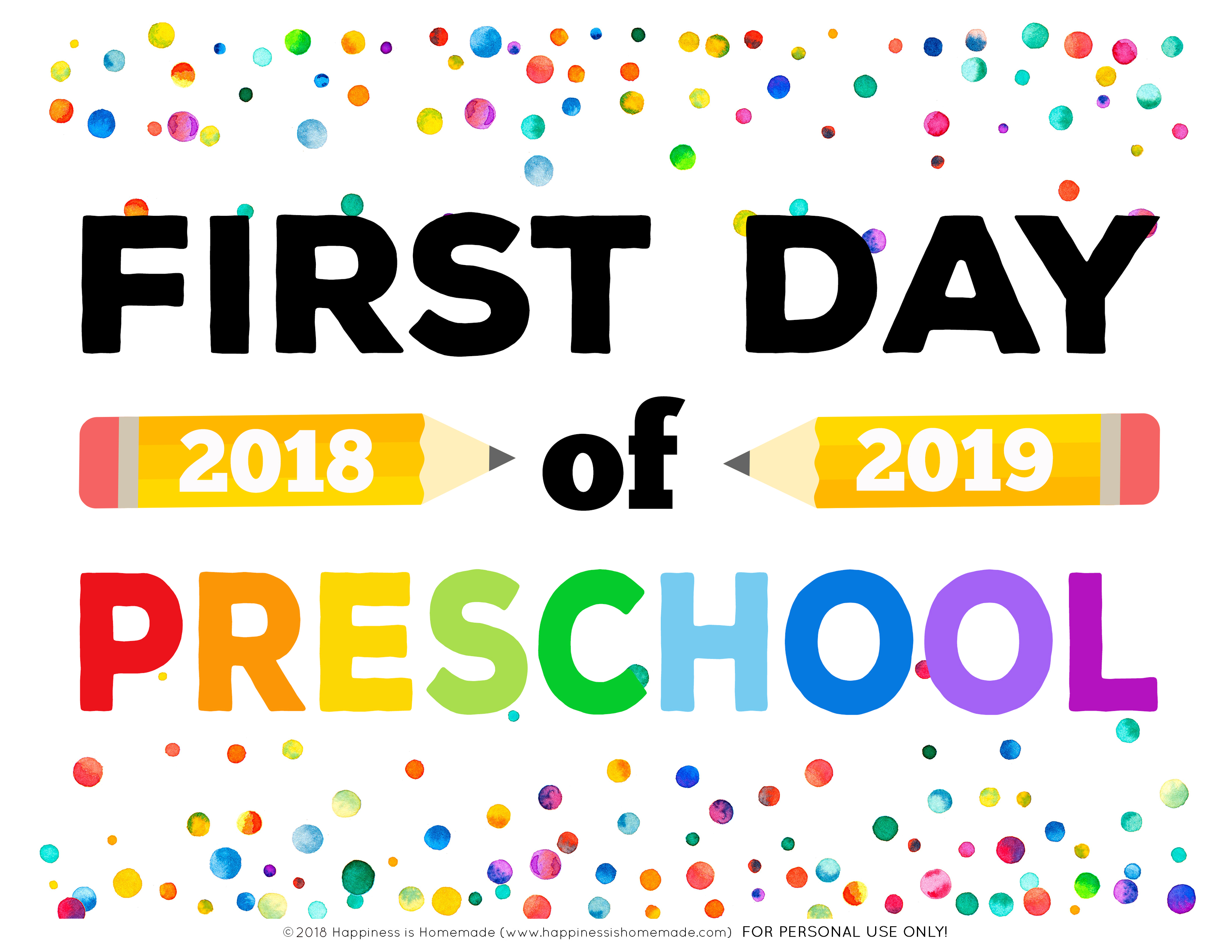 First Day Of School Signs Free Printables Handmade