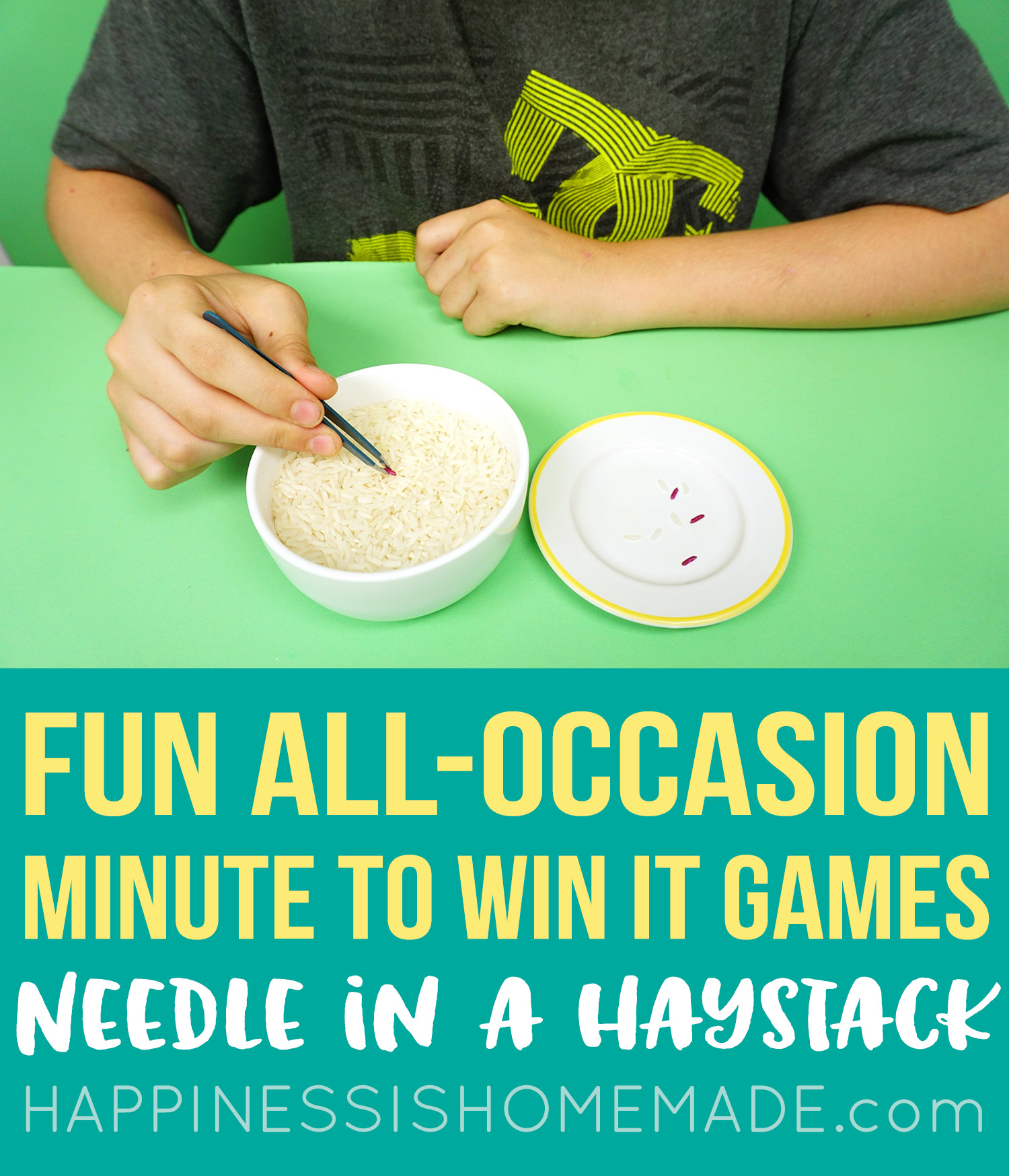 Fun Minute to Win It Games - Needle in a Haystack