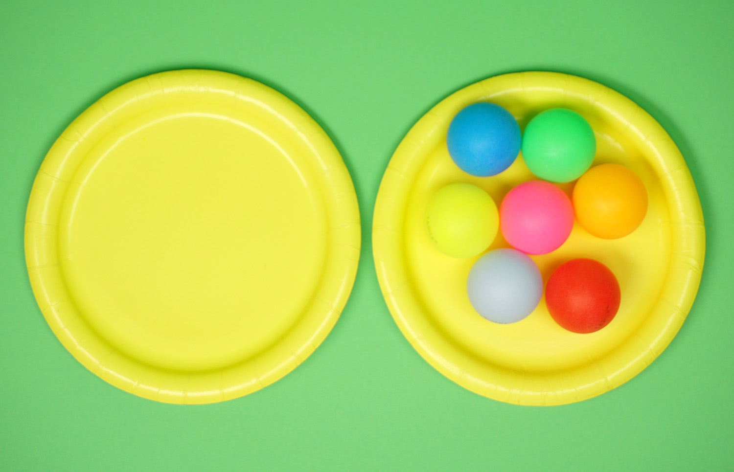 Minute to Win It Game Supplies - Paper Plates and Ping Pong Balls