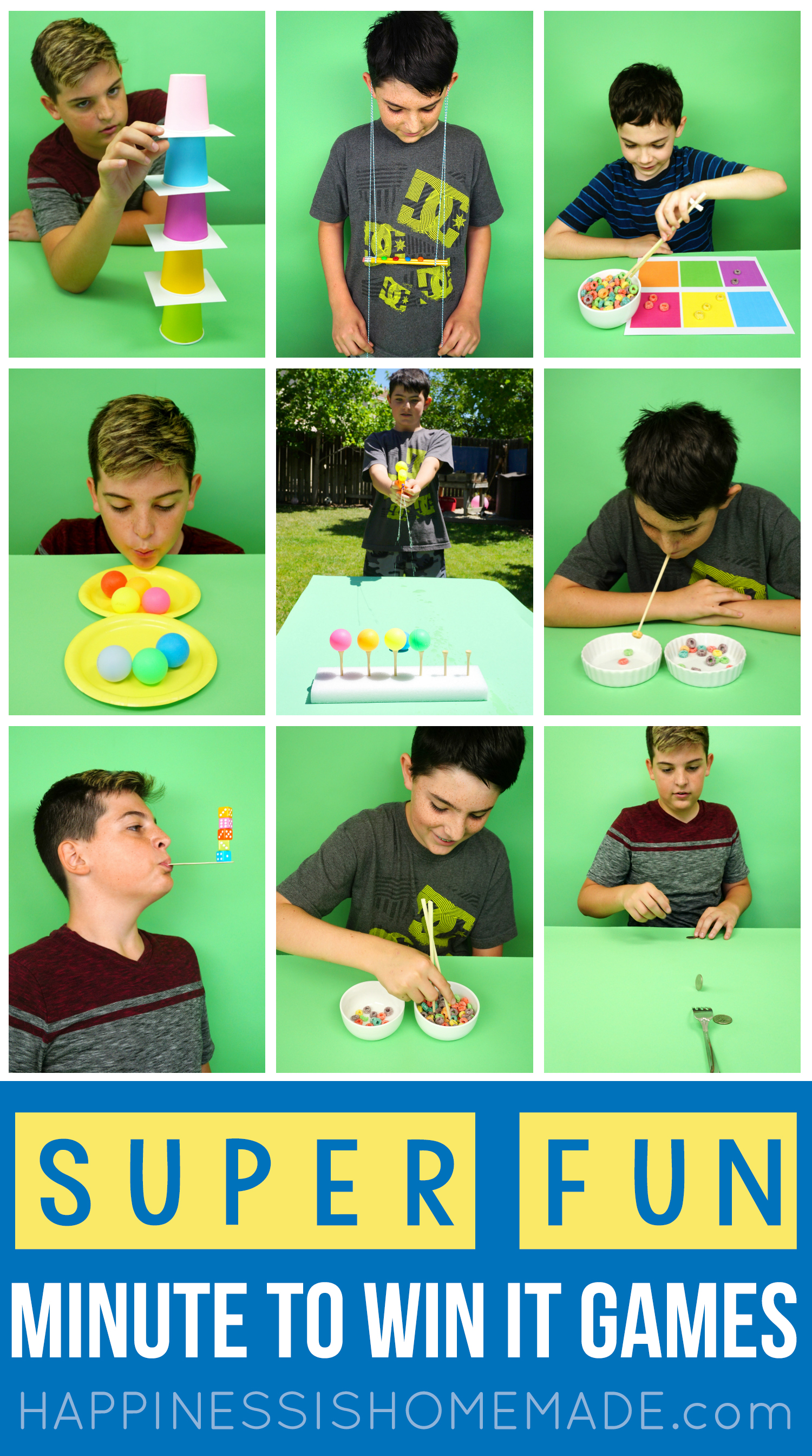 Minute To Win It Games For Kids Teens And Adults Happiness Is Homemade