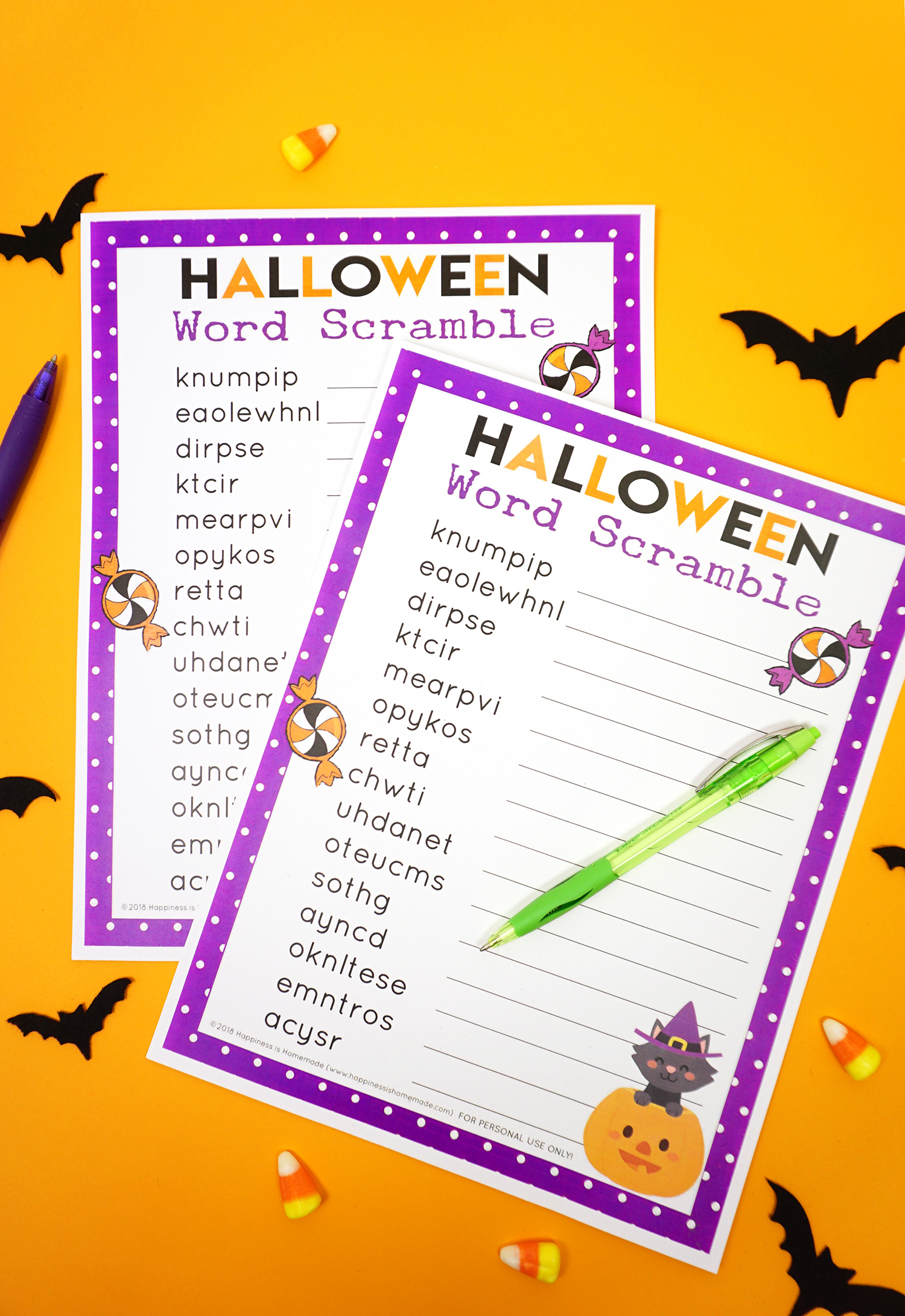 Halloween Word Scramble For Kids