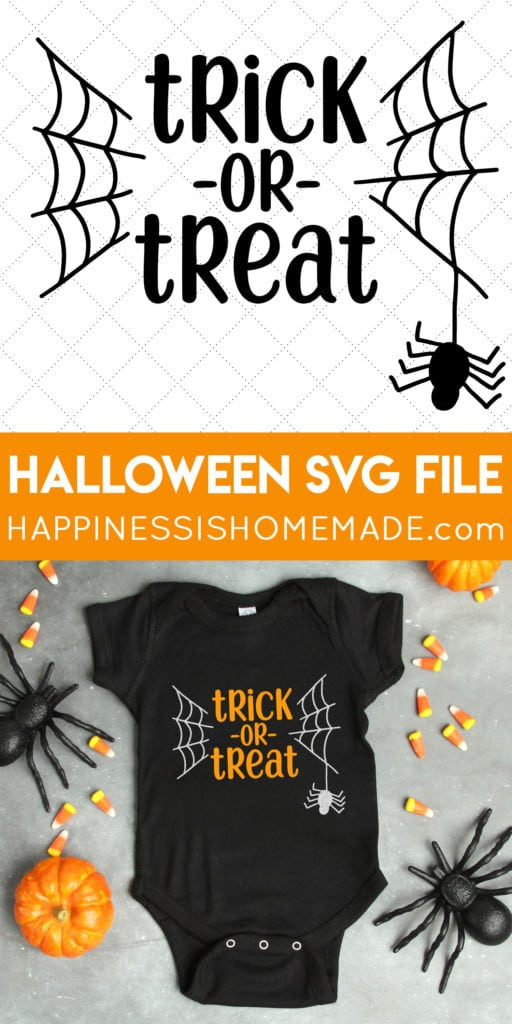 """Download """"Trick or Treat"""" Halloween SVG File - Happiness is Homemade"""