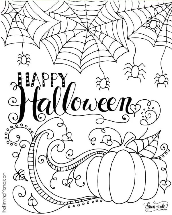 free coloring pages halloween # 1