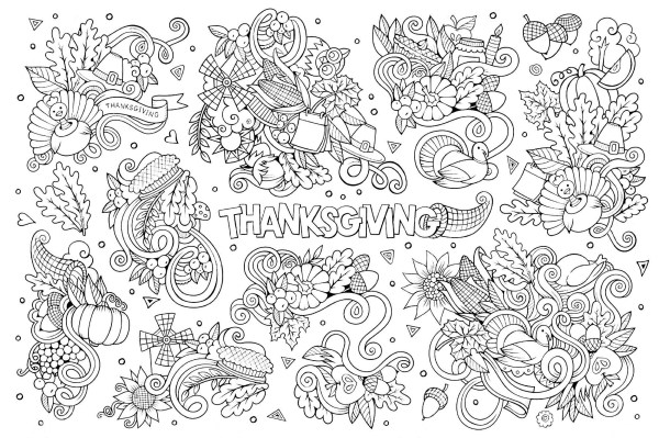 thanksgiving coloring pages free # 20