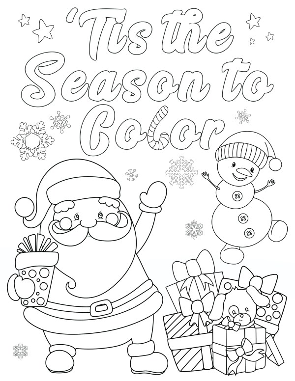 coloring christmas pages # 33