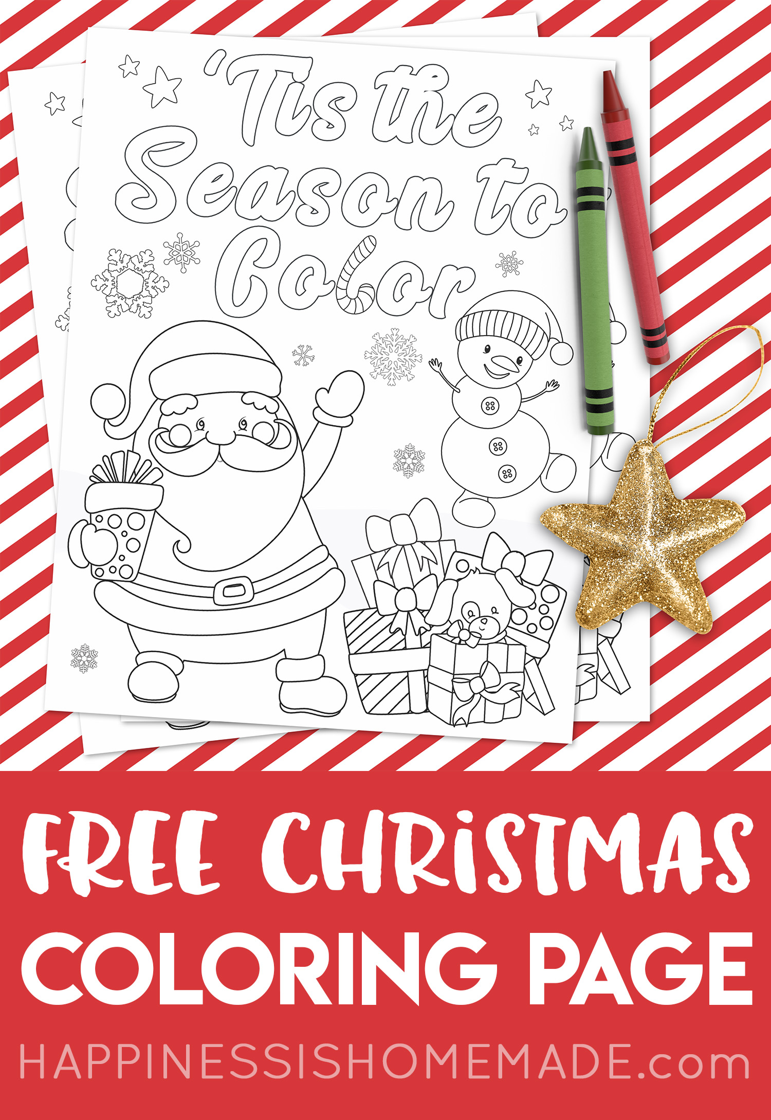 FREE Christmas Coloring Page Tis The Season To Color