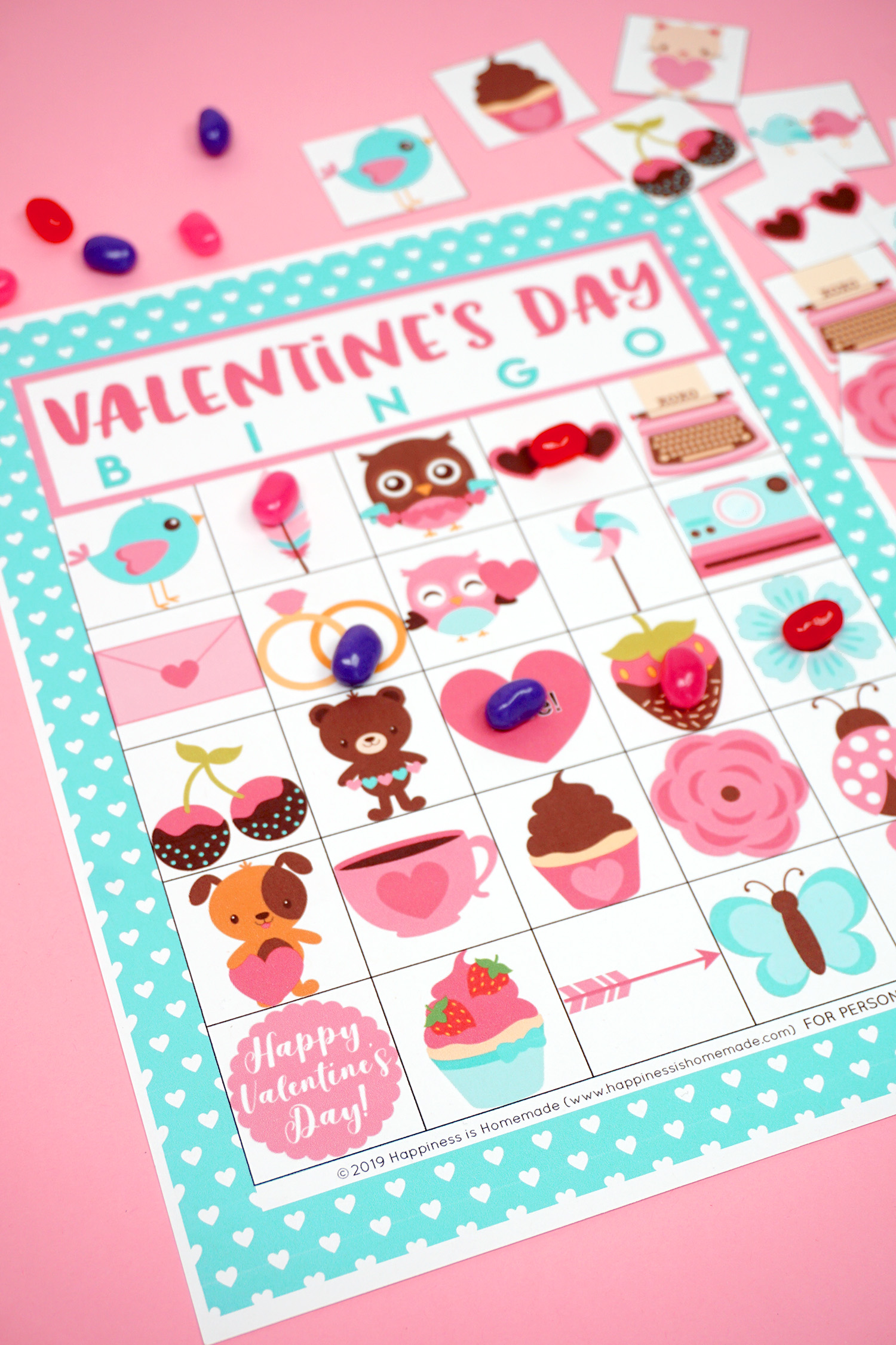Valentine Bingo Game Free Worksheet