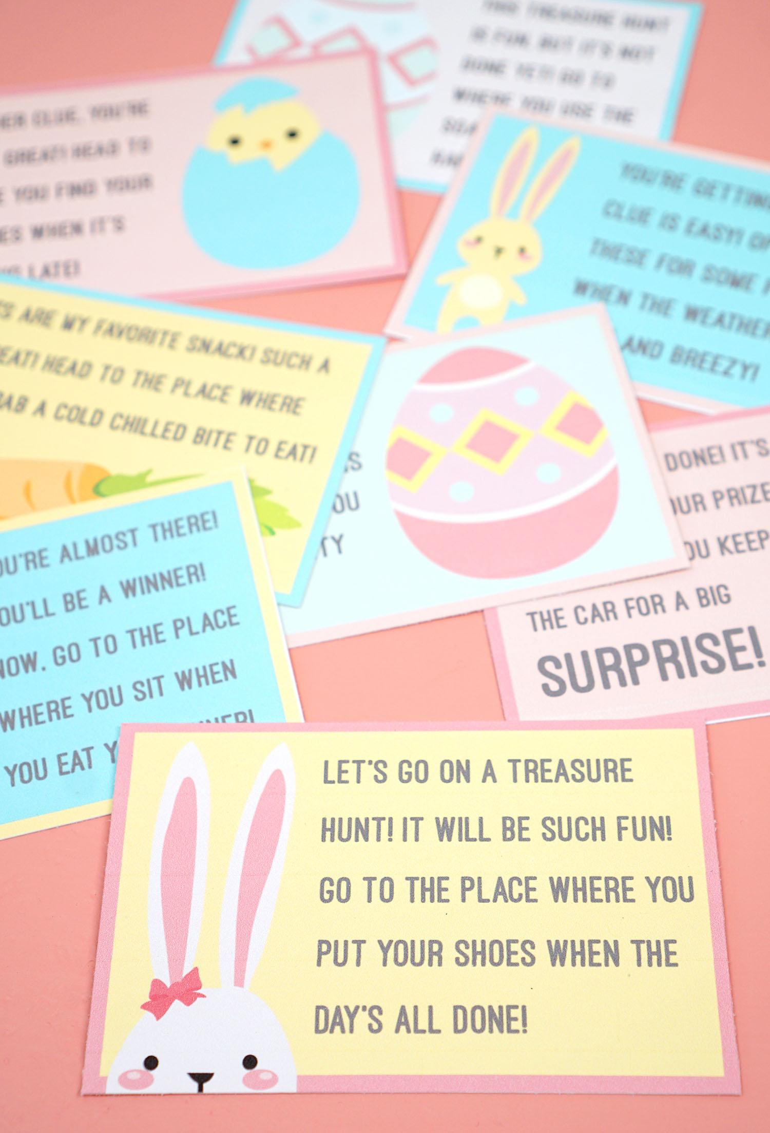 Printable Easter Scavenger Hunt Clues