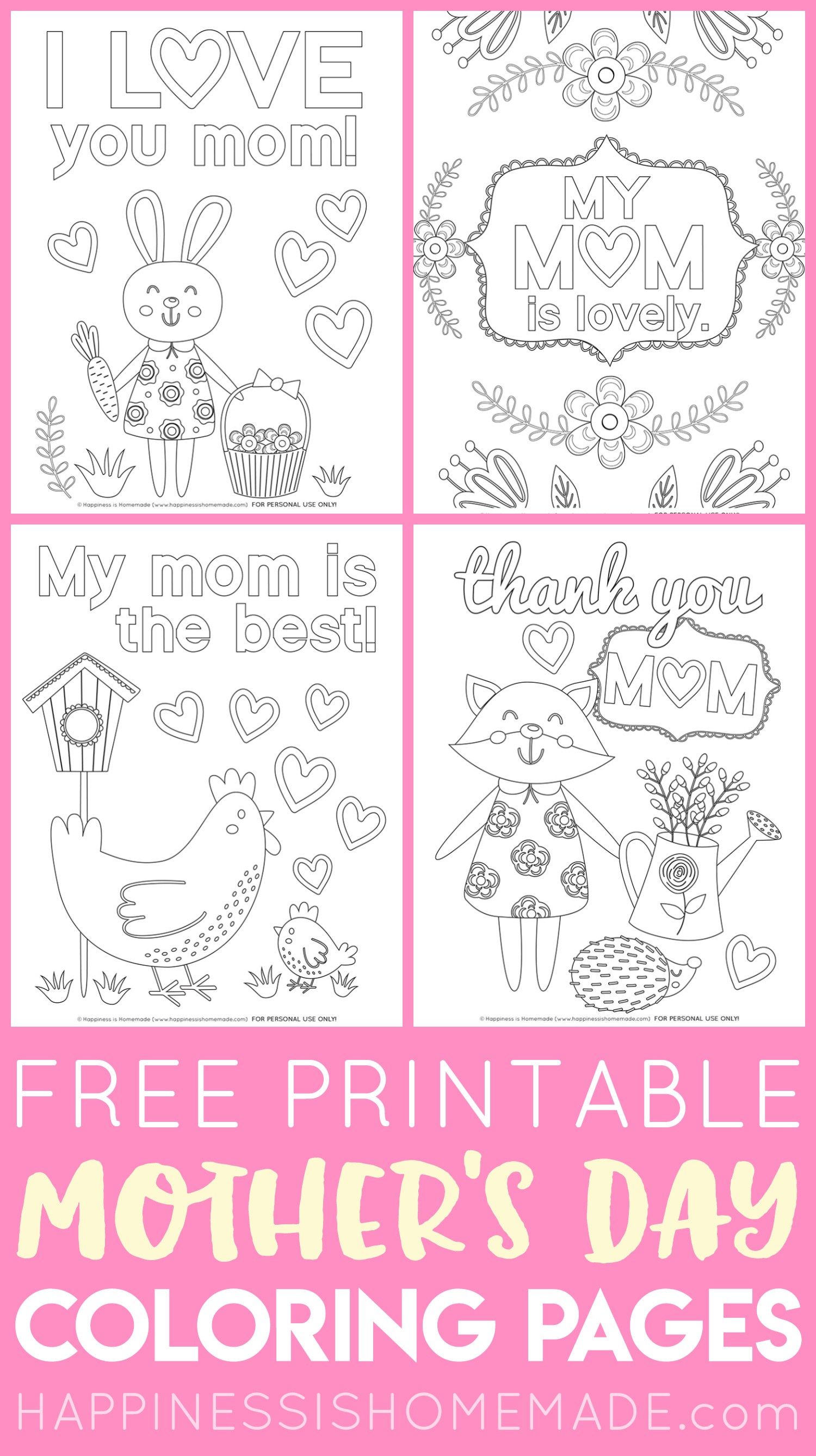 Printable Mother's Day coloring pages