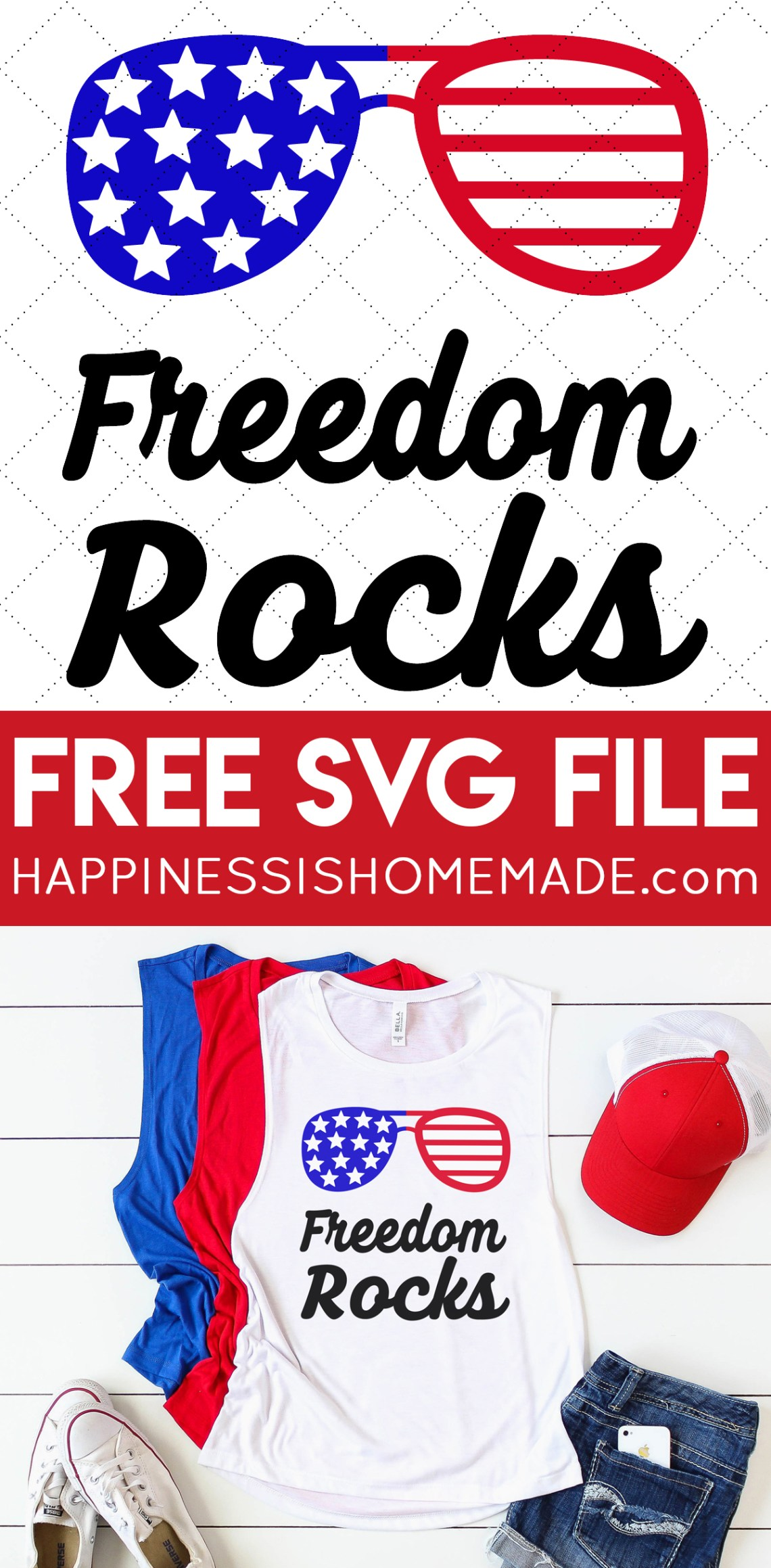 Download Free 4th of July SVG Files - Happiness is Homemade